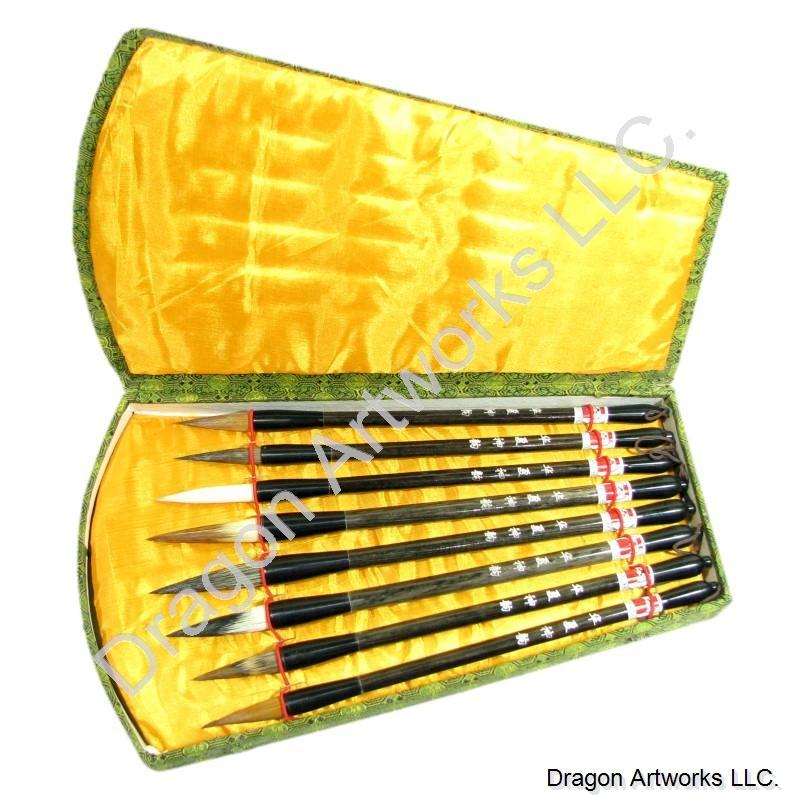 Mixed Hair Bristle Chinese Art Brush Set