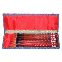 Set of Seven Chinese Wolf Hair Art Brushes